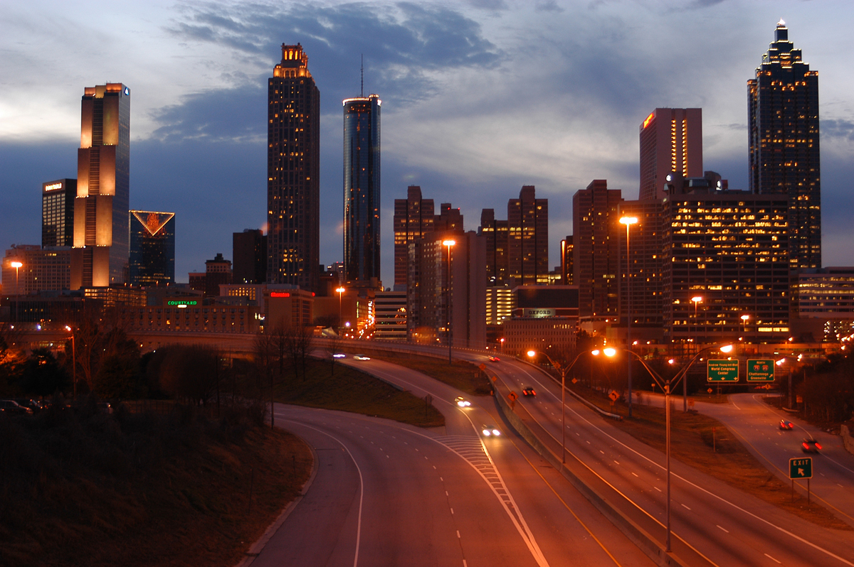 Atlanta night time skyline